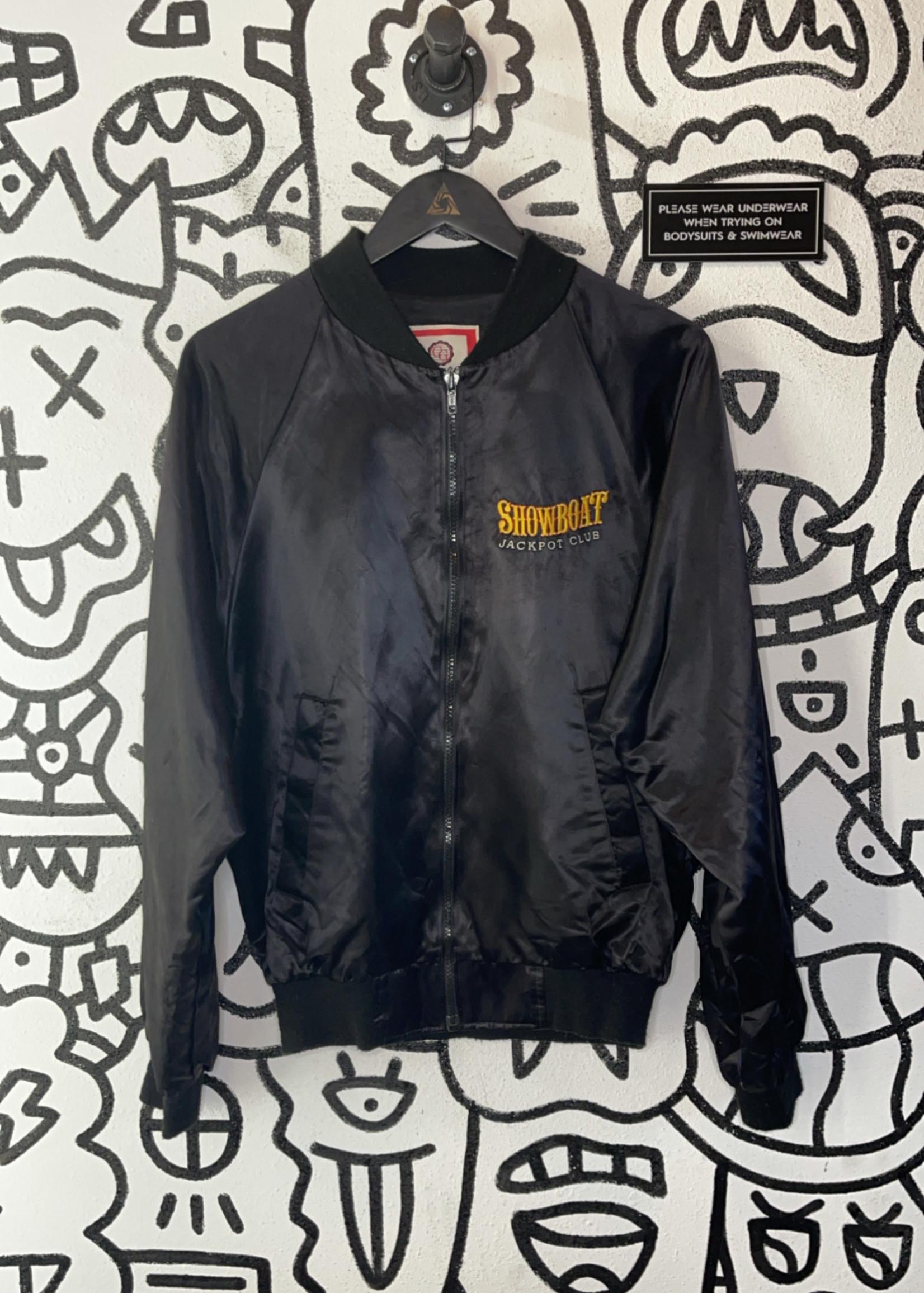 Vintage black showboat las vegas bomber jacket M