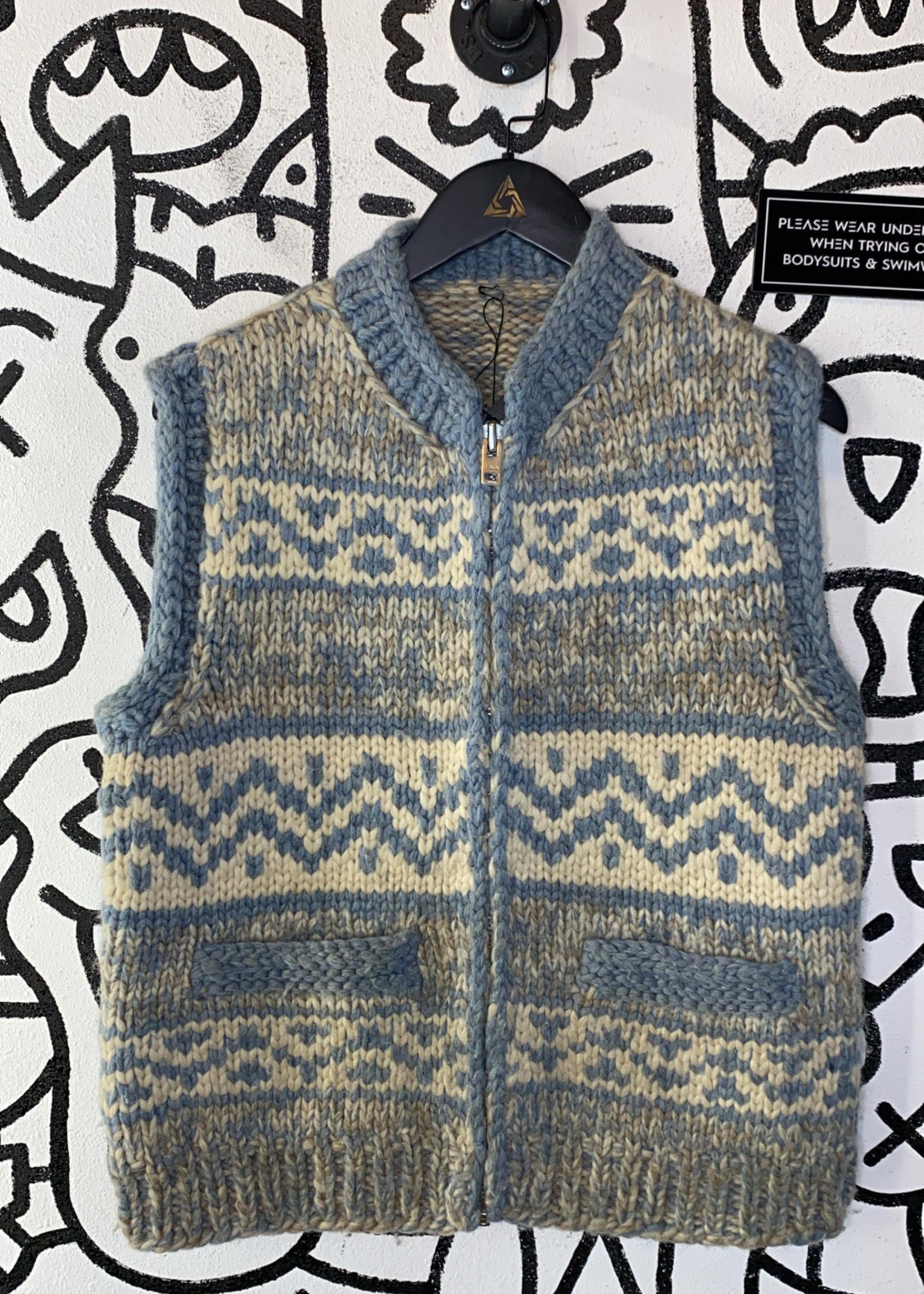 Vintage No Label Pastel Wool Sweater Vest L