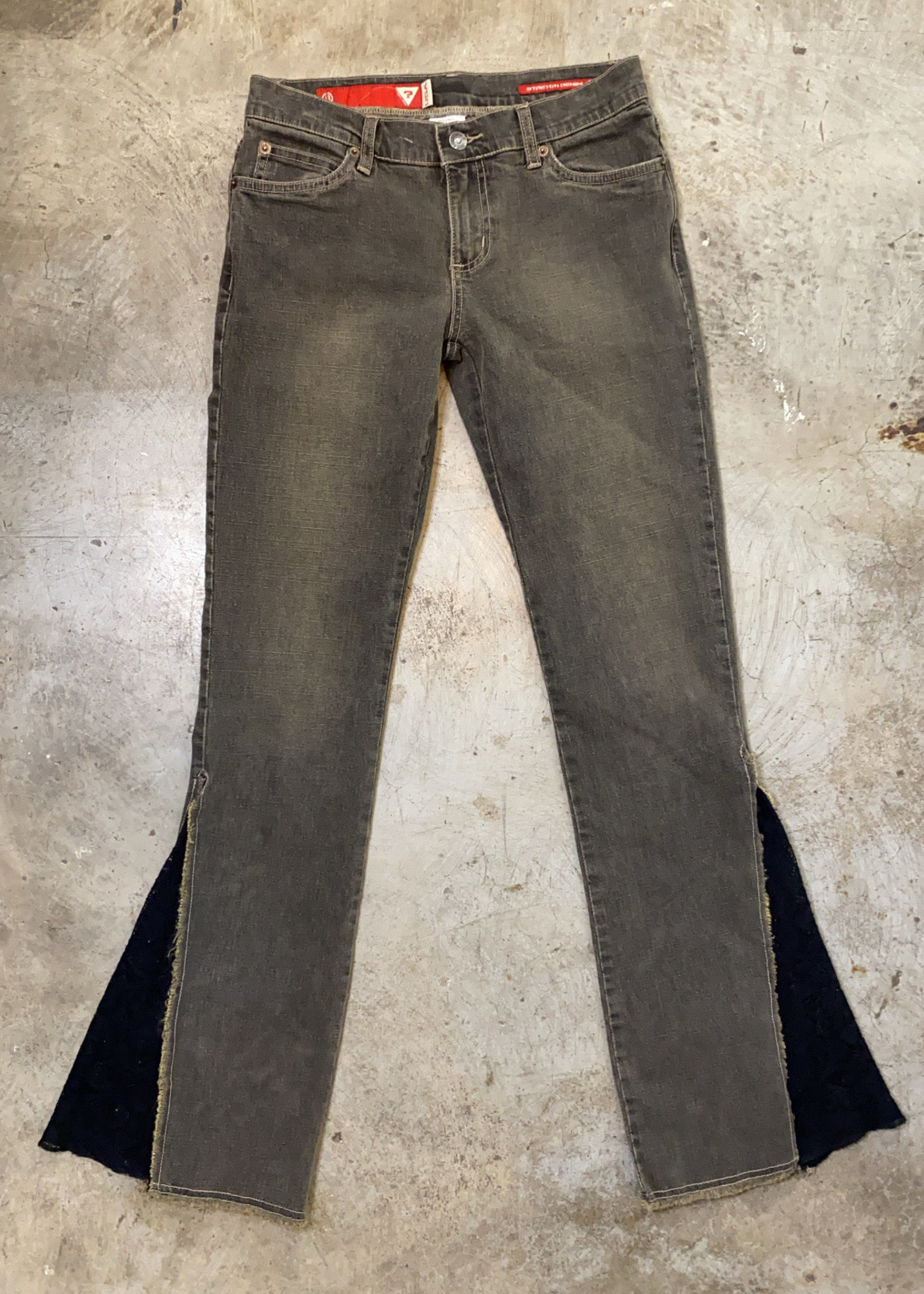"""Guess Y2K Gray Flare Lace Jeans 26"""""""