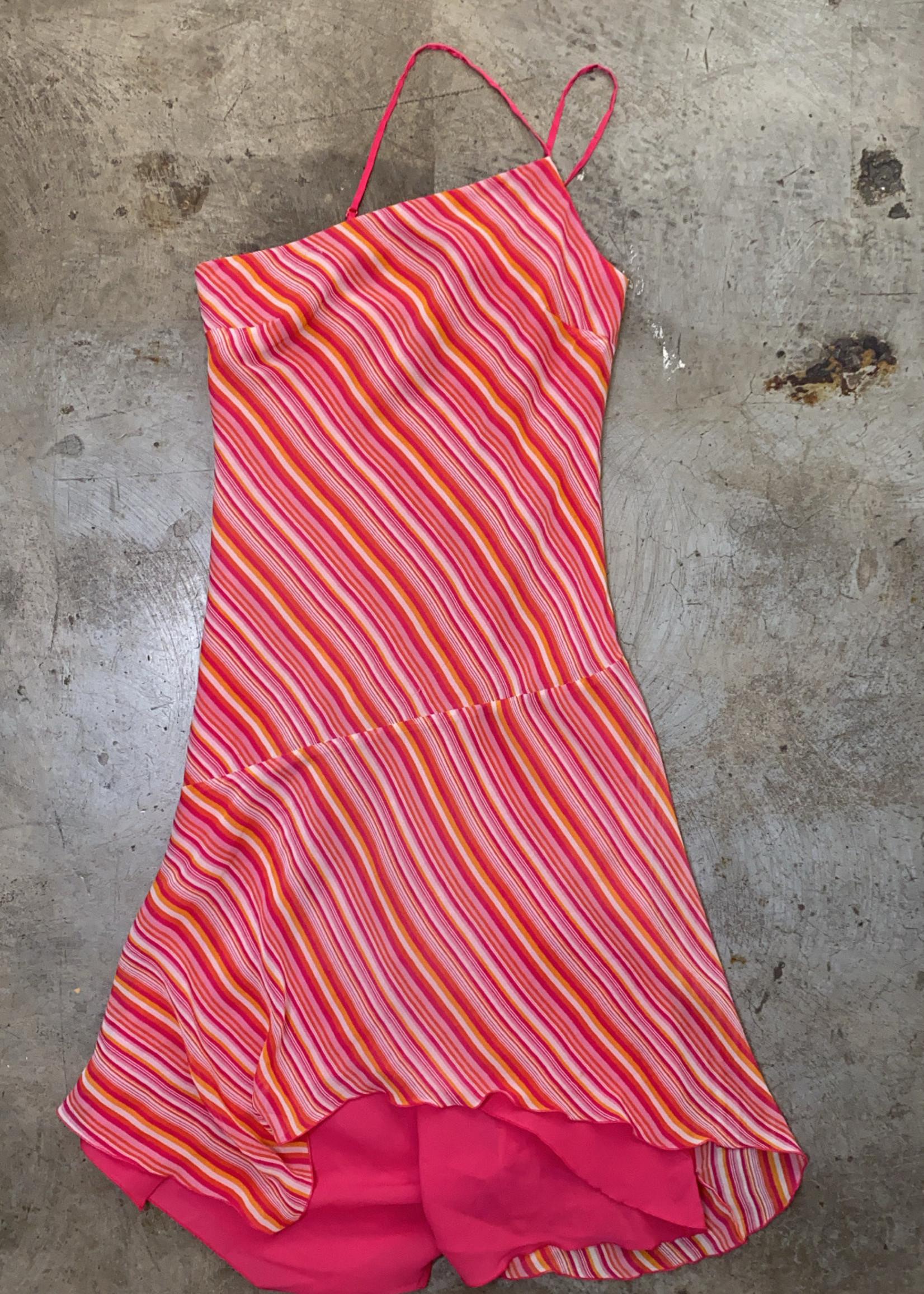 Express Y2K Hot Pink Silk Dress 6/M