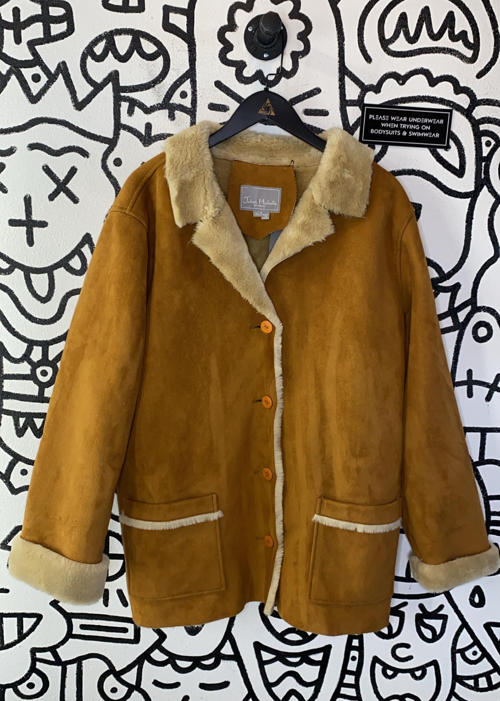 Juliet Michelle by Adler Vintage Brown Fur Coat XL