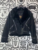 Adventure Bound by Wilsons Black Leather Faux Fur Lined M
