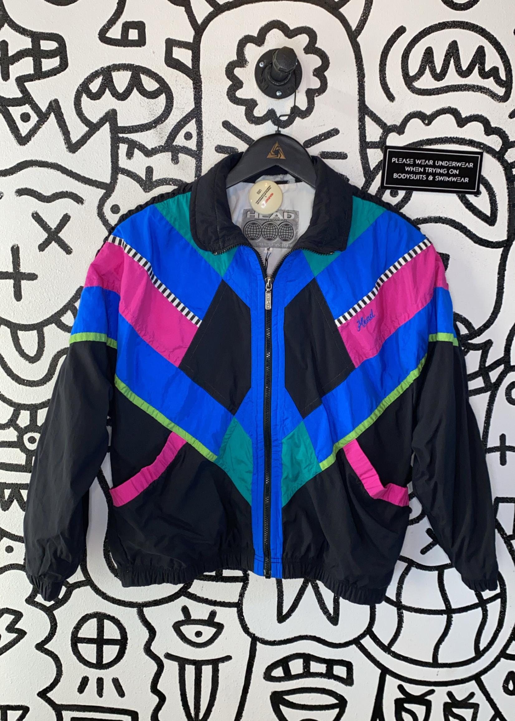Head Vintage '80s Pink Blue Black Jacket M