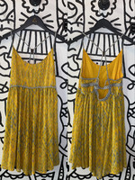 Free People Yellow Strappy Back Dress S