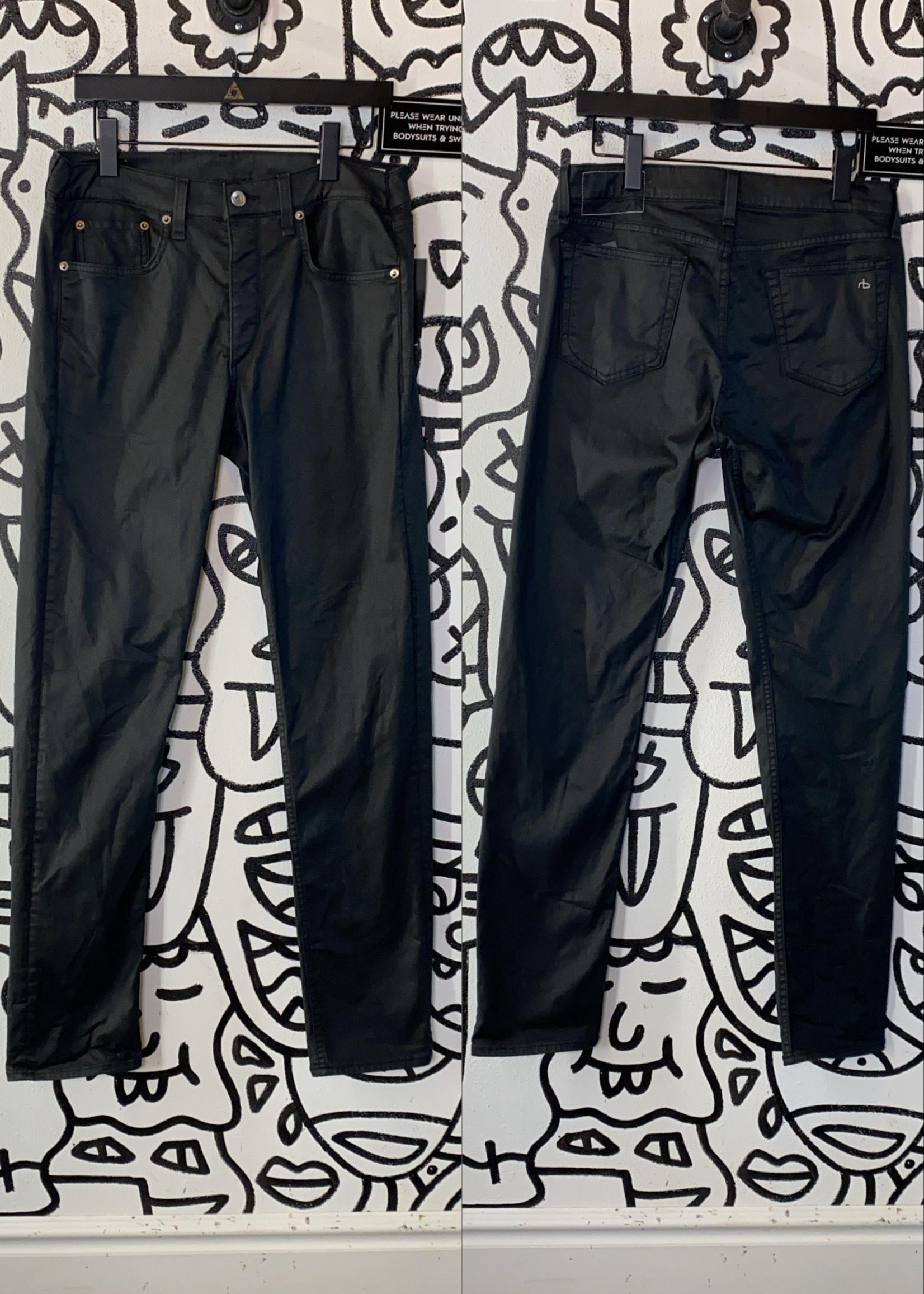"""Rag & Bone Black Waxed Denim Jeans 31"""""""