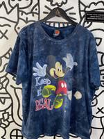 Vintage Disney Keep it Real Blue Mickey Tee XL