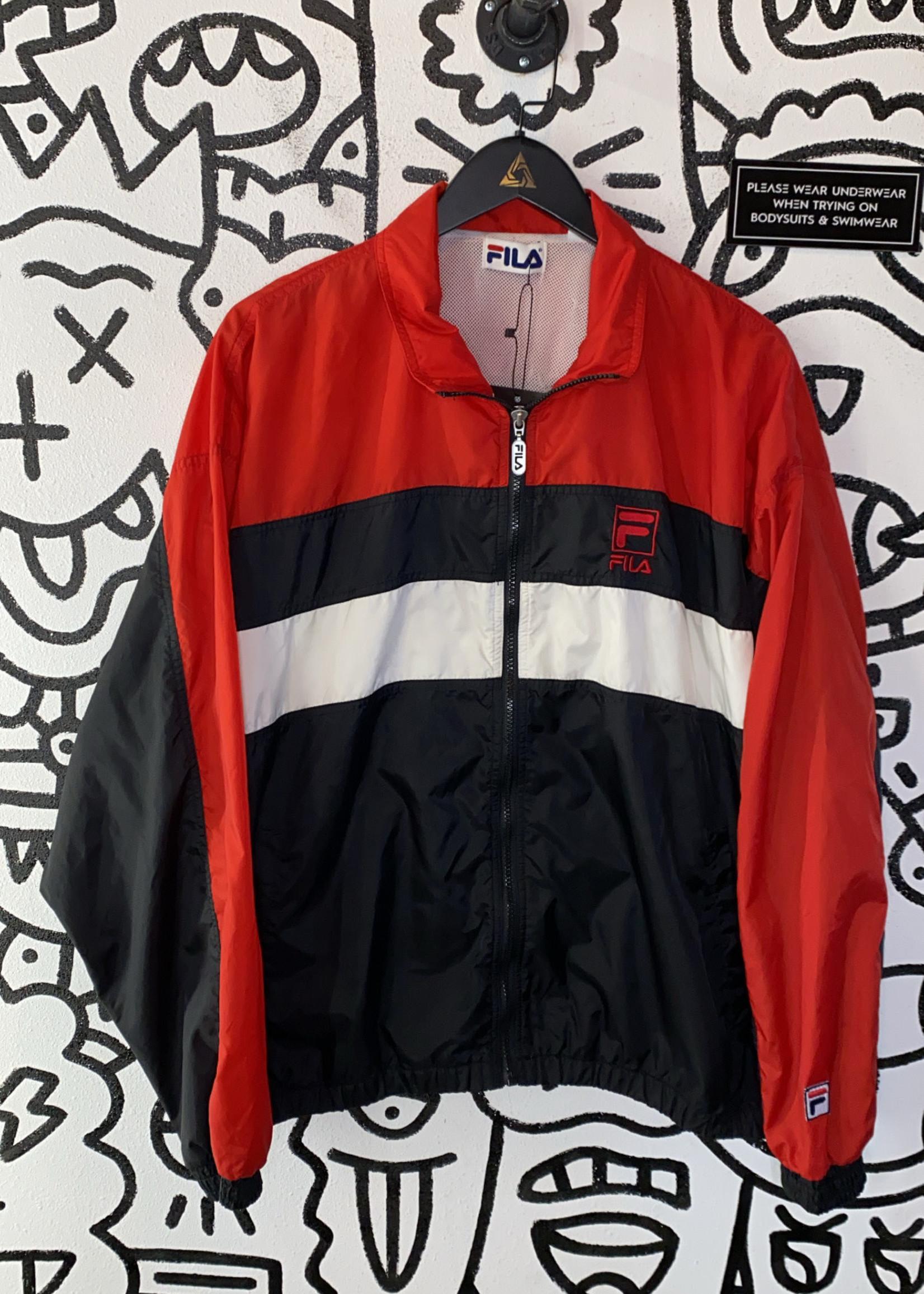 Vintage Fila Red Black White Windbreaker XL