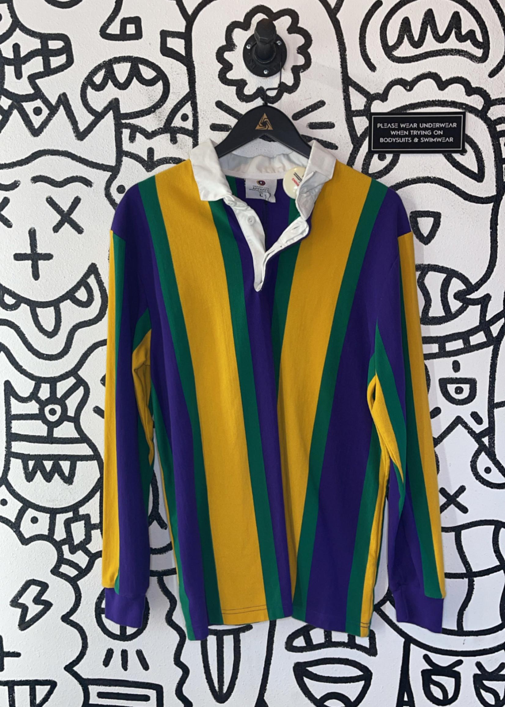 Vintage crescent city striped long sleeve L