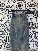 Vintage prezzia acid wash mid skirt 26