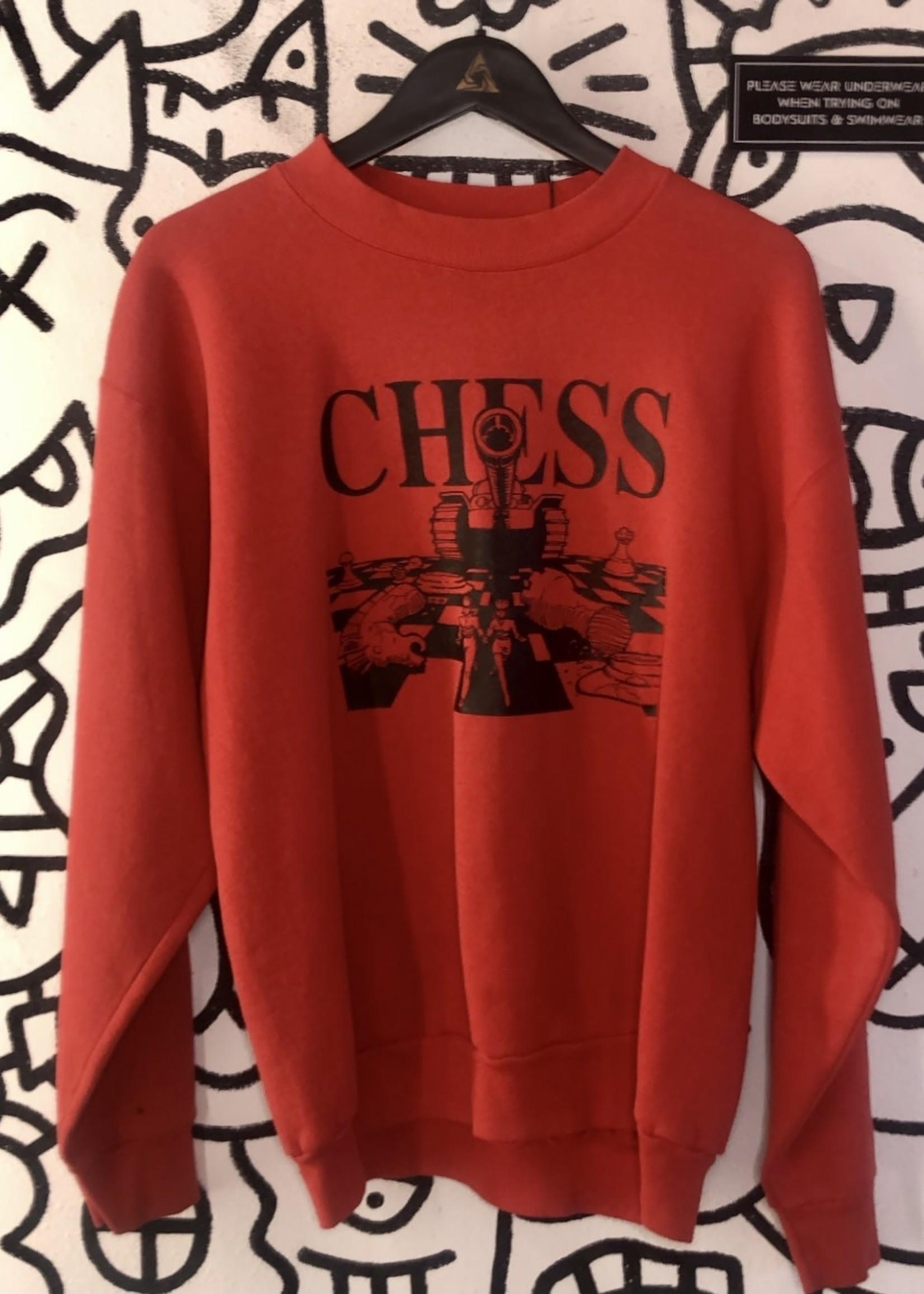 Vintage Chess Red Crewneck XL