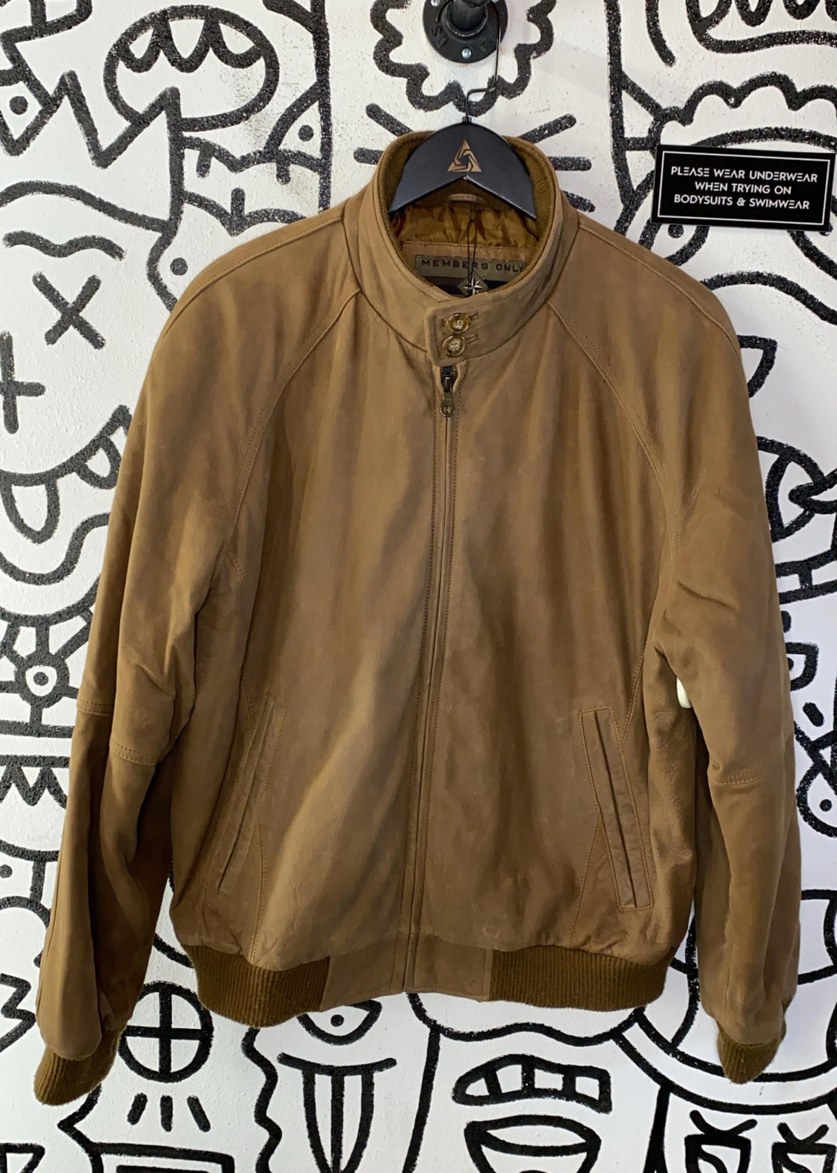 Vintage Members Only Brown Leather Jacket M