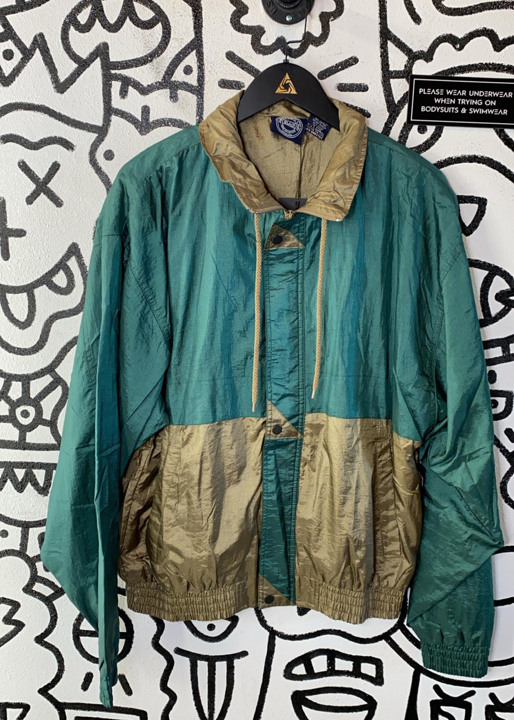 Adventures Club Vintage Green Gold Jacket M