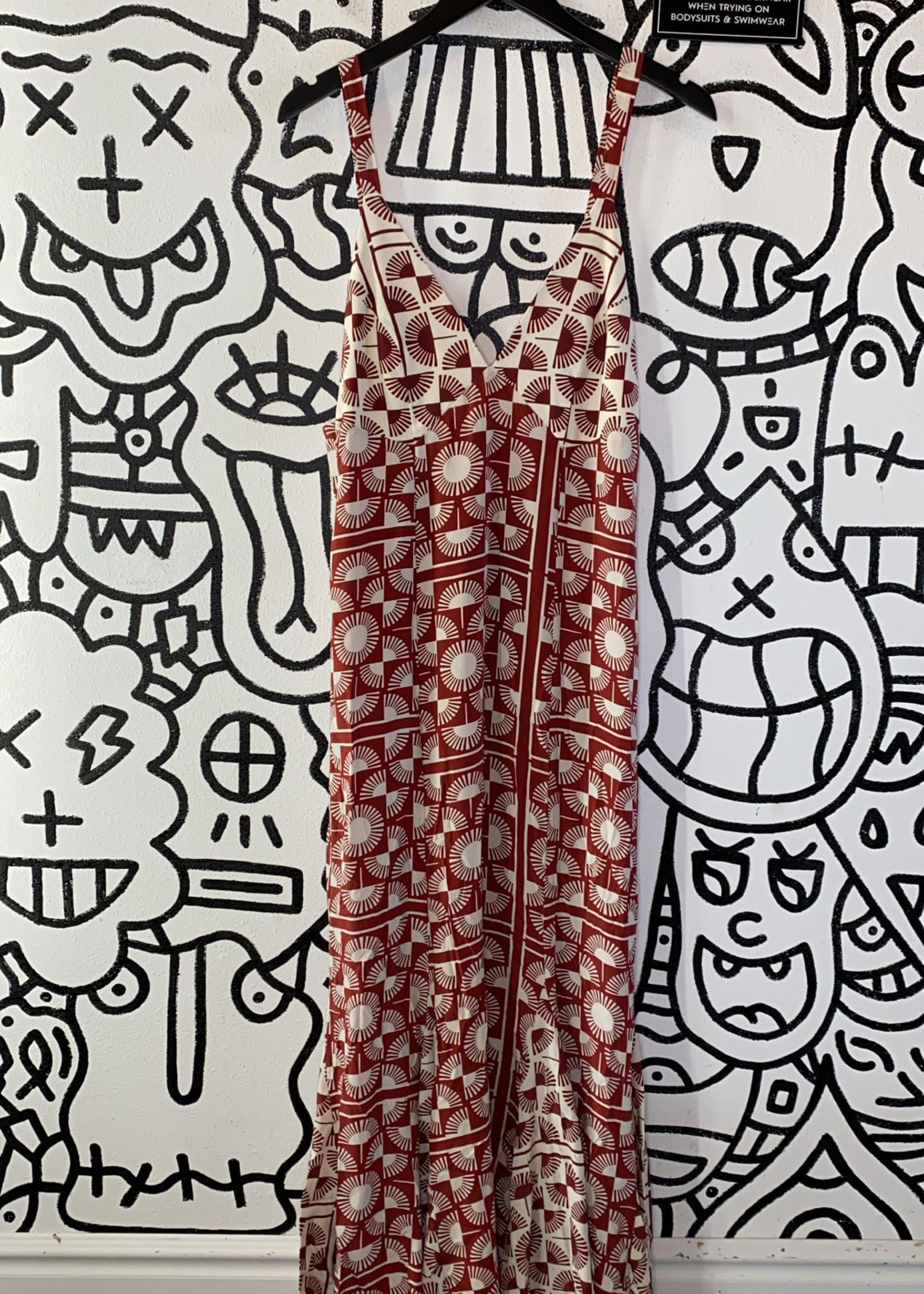 Stone Cold Fox Maroon Pattern Dress (Retail: $200+) S