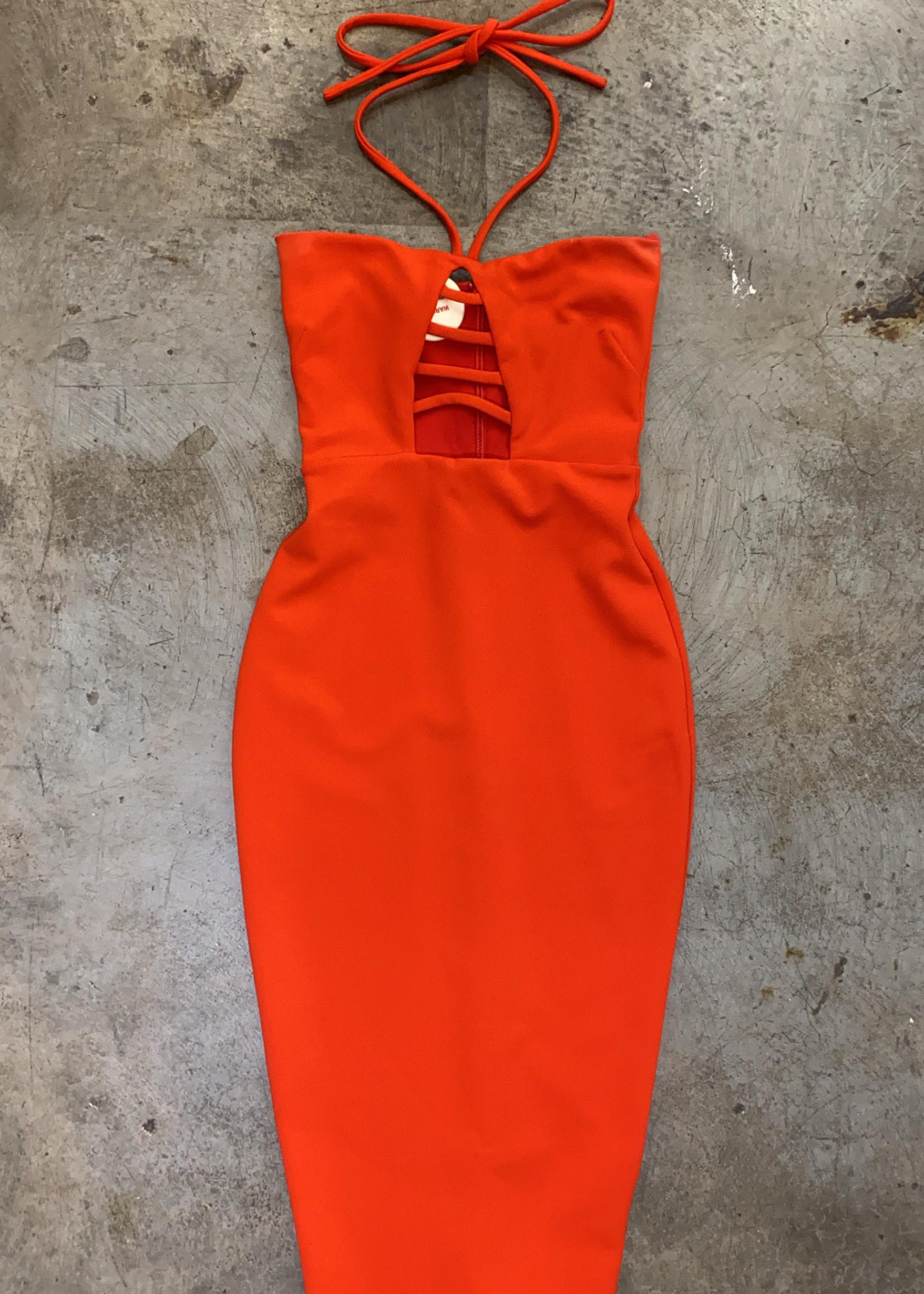 Nookie Revolve Red Bodycon Halter Dress XS
