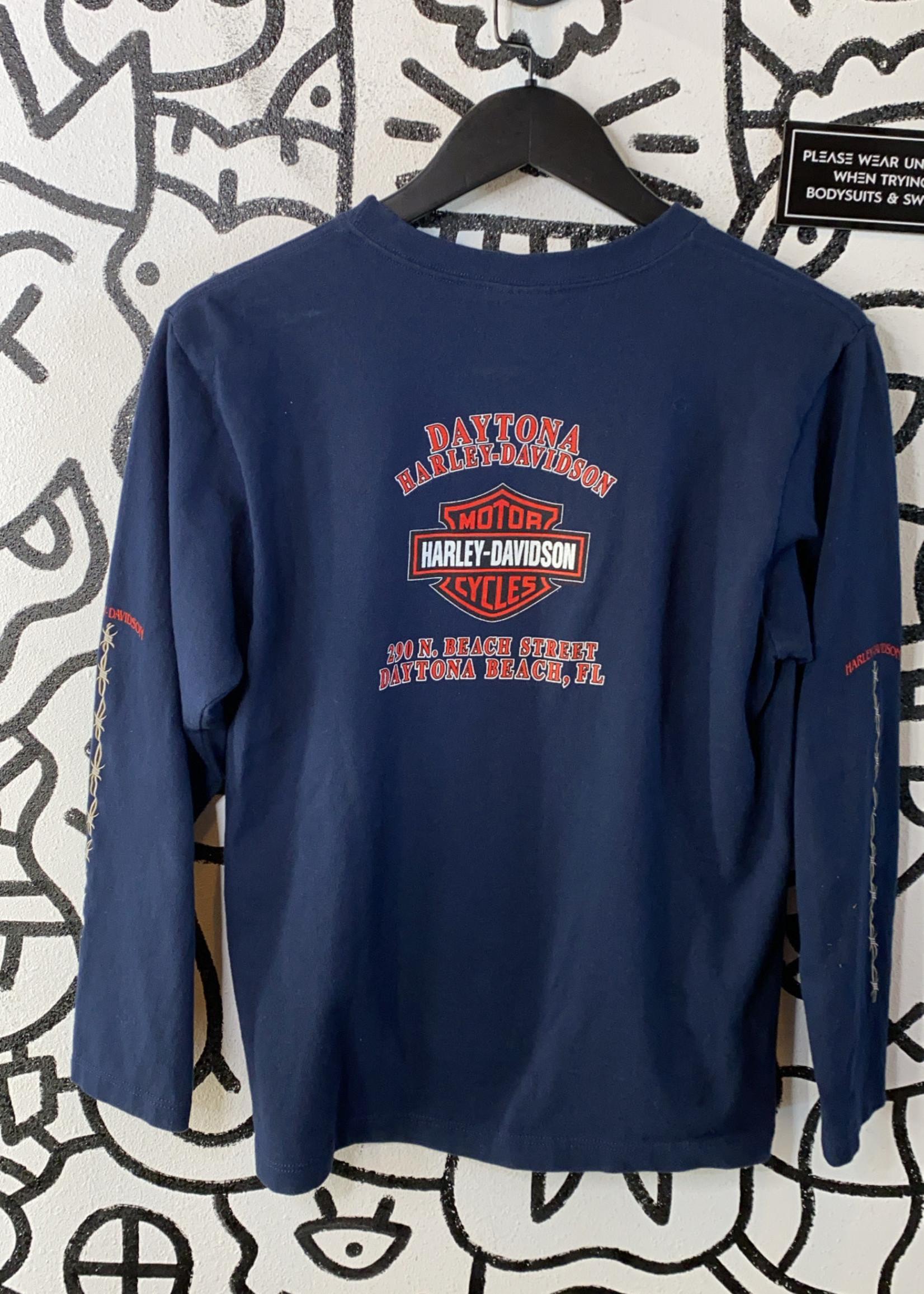 Harley Davidson Navy Blue Long Sleeve M