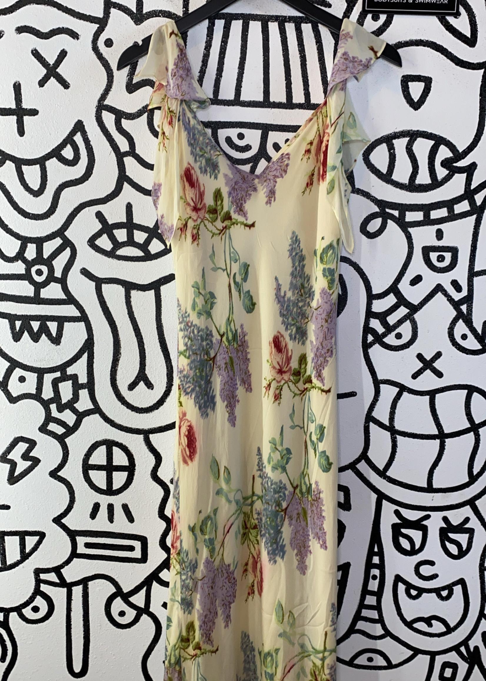 Morrell Maxie Vintage Beige Floral Print Dress 8/M