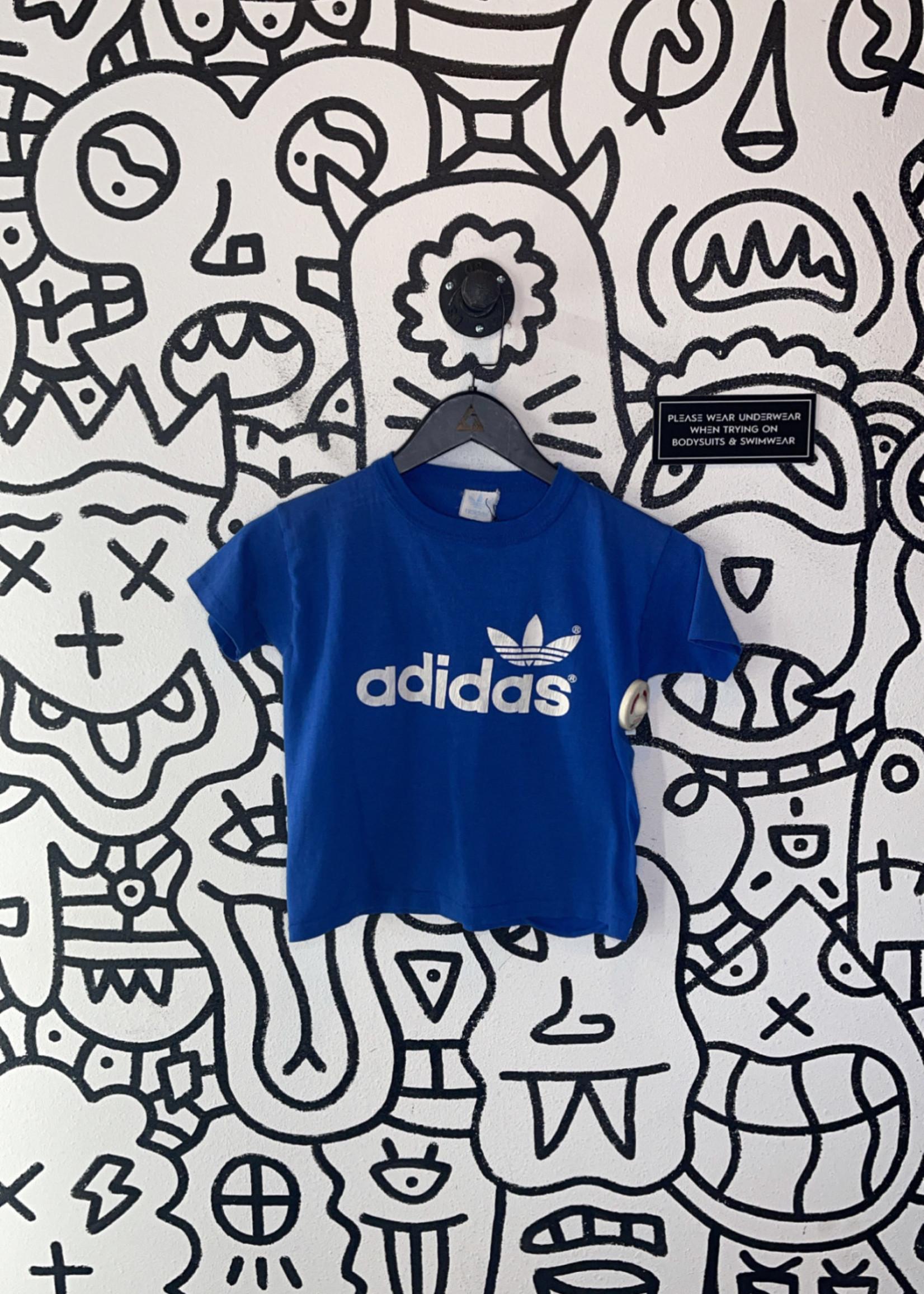 Adidas Vintage Blue Baby Tee XS