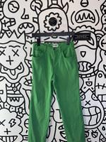 Vintage super slimmer green high waisted straight leg pants 26