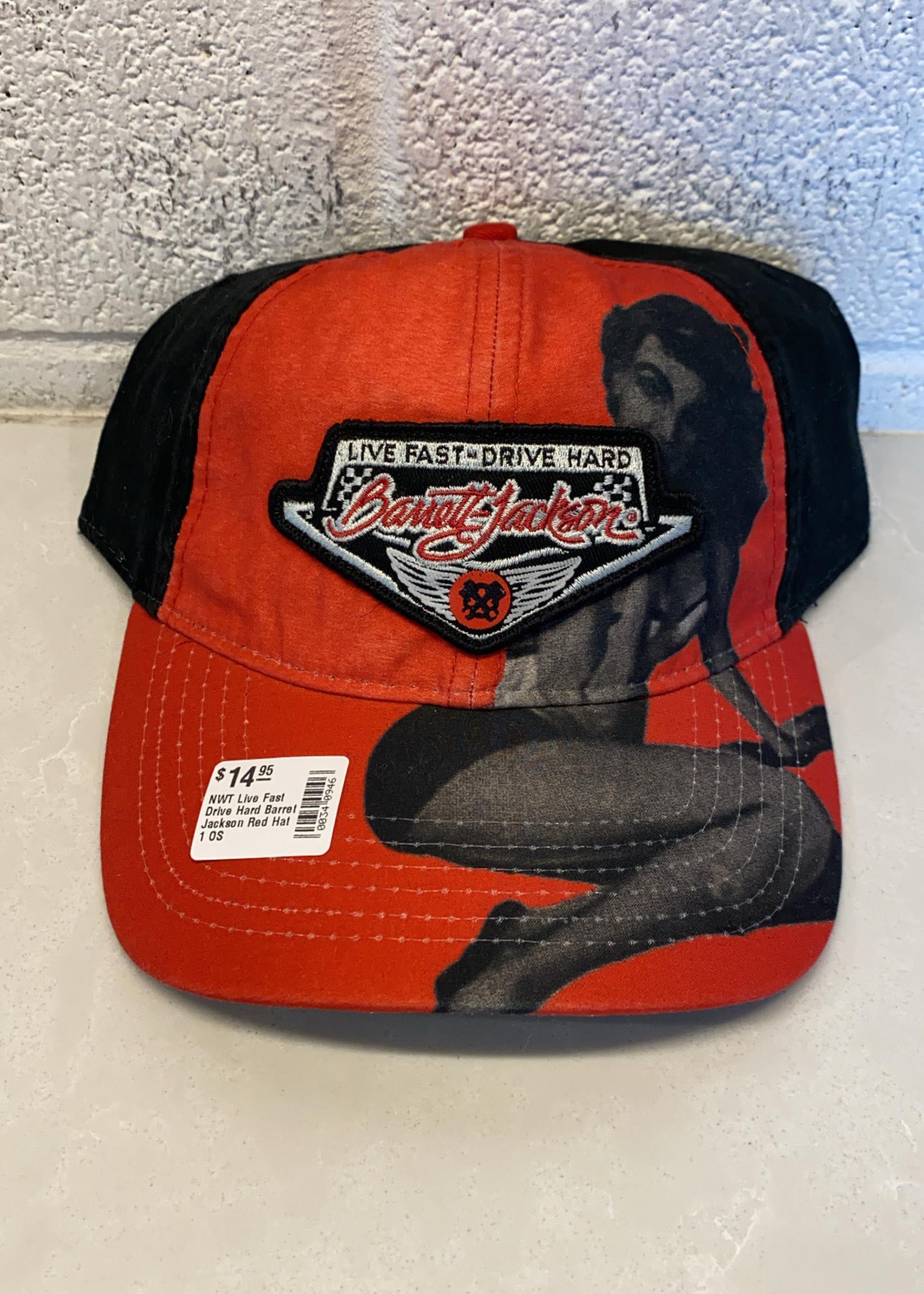 NWT Live Fast Drive Hard Barret Jackson Red Hat