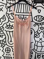 Vintage carol brent pink lace satin dress S
