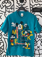 Vintage teal mickey mouse graphic tee M