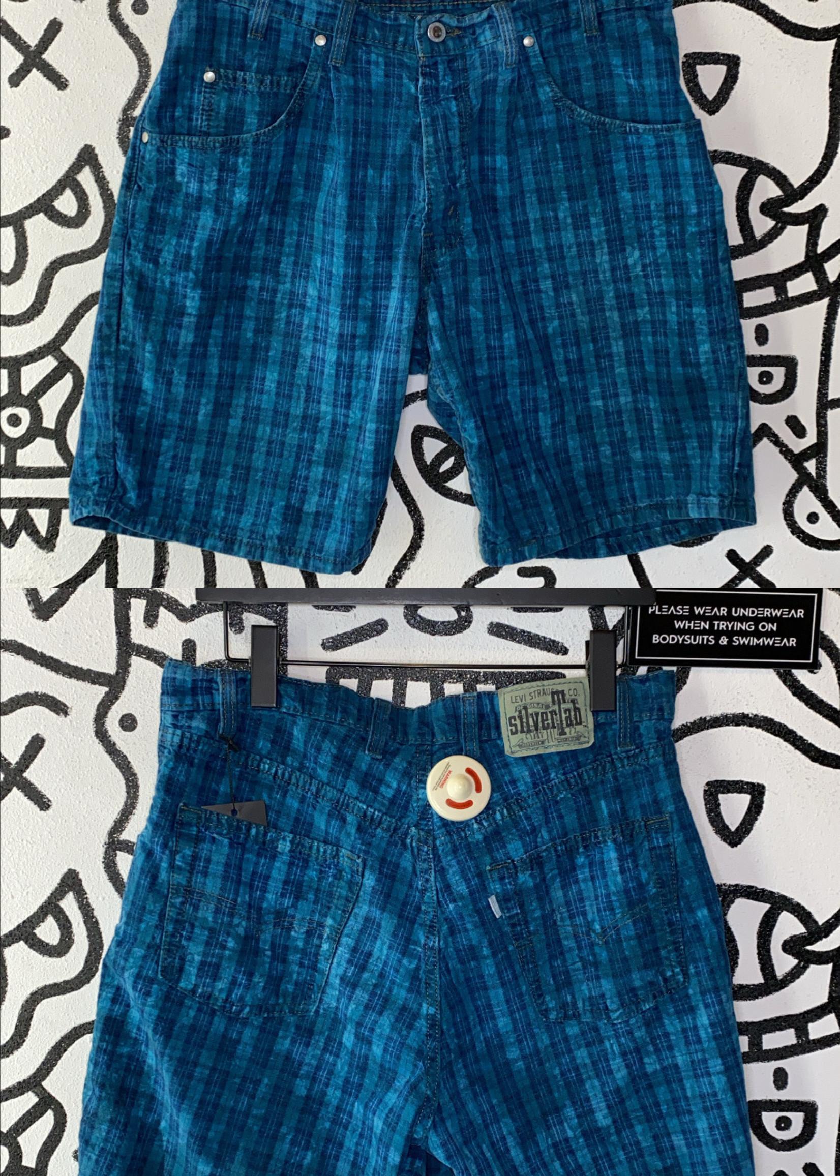 Vintage Levis silver tab teal shorts 33