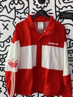 Adidas White Red Windbreaker M