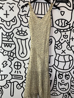Jonathan Martin Beige Vintage Polka Dot Dress S