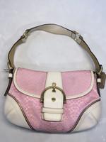 Coach pink and white y2k mini shoulder bag