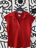Tommy Jeans Vintage Mesh Red Collared Tank S