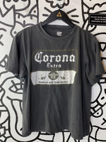 Vintage Corona Faded Black Single Stitch Tee S AS IS