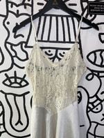 Vintage No Label White Lace Tank S AS IS