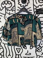 JB Wright Ltd Vintage '80s Green Crop Top S