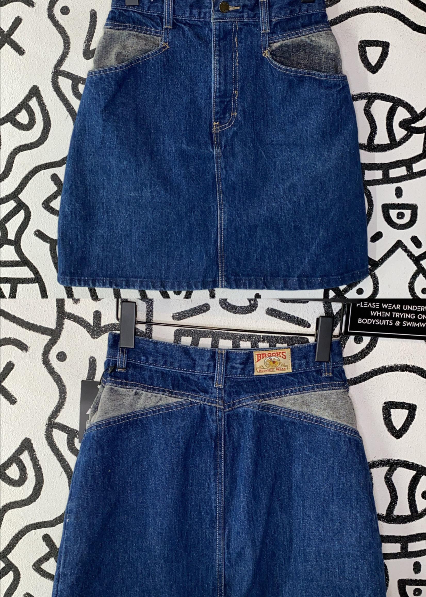 Vintage Brooks Rugged Wear Denim Skirt 25
