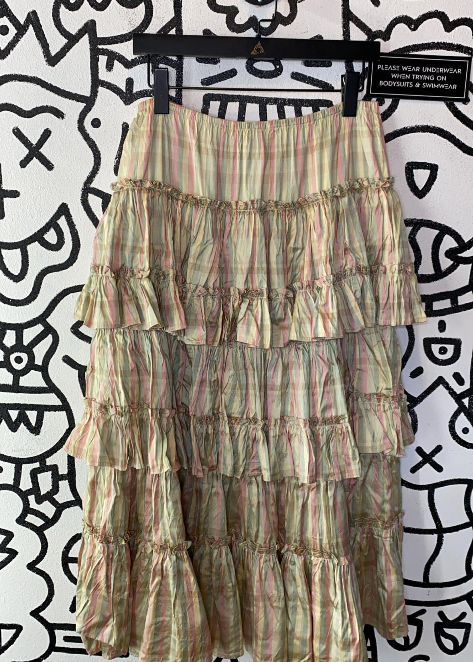 """Marrika Nakk Designer Ruffle Tiered Skirt 34"""""""