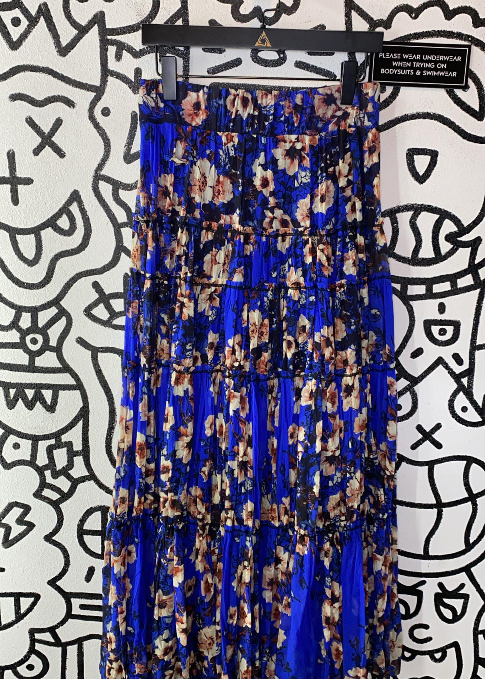 Jean Paul Gaultier Designer Blue Stretch Skirt
