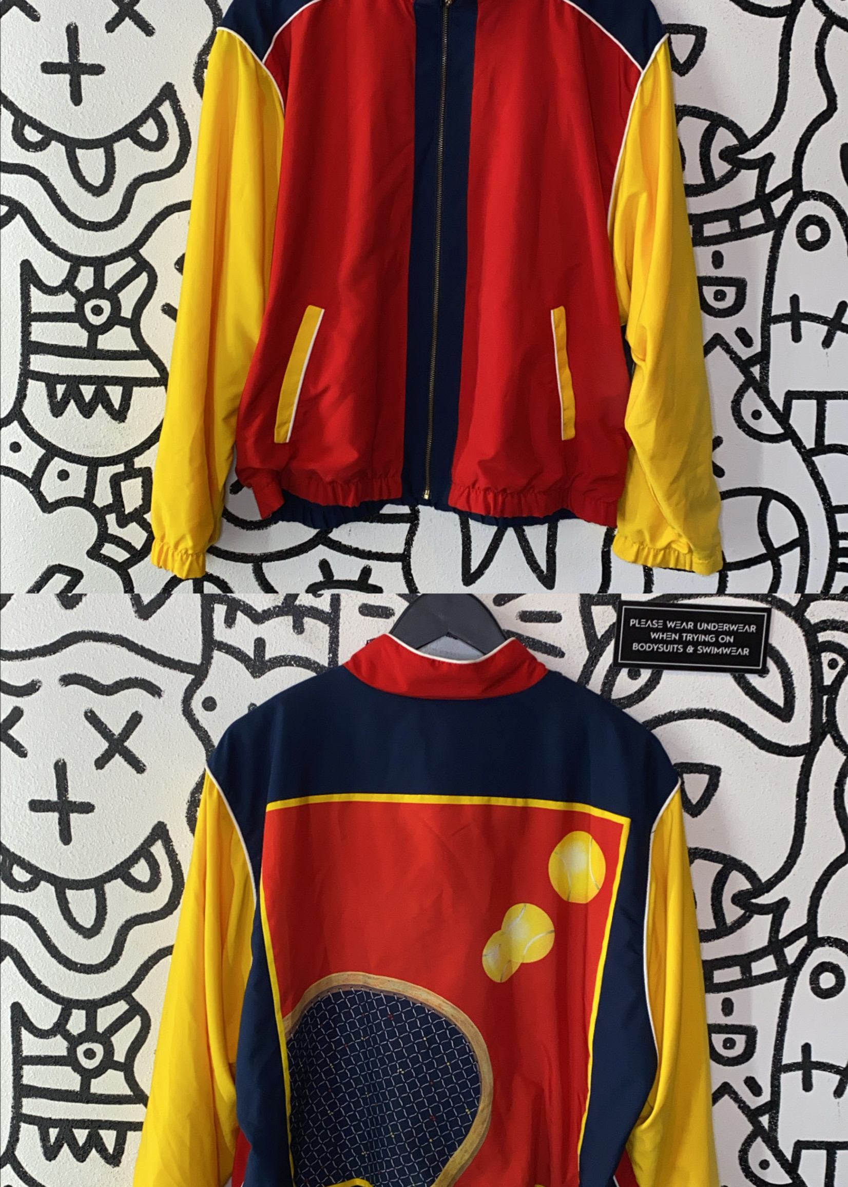 Vintage Tail Colorblock Tennis Jacket S
