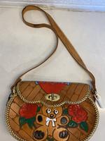 Vintage Leather Teddy Bear Lorena Handbag