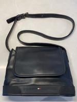 Vintage Tommy Hilfiger Black Leather Crossbody