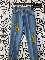 "Vintage Levi's '80s Hand Painted Jeans 29"""