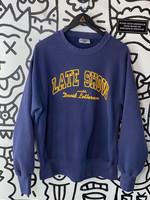Vintage Late Show with David Letterman Blue Crewneck L