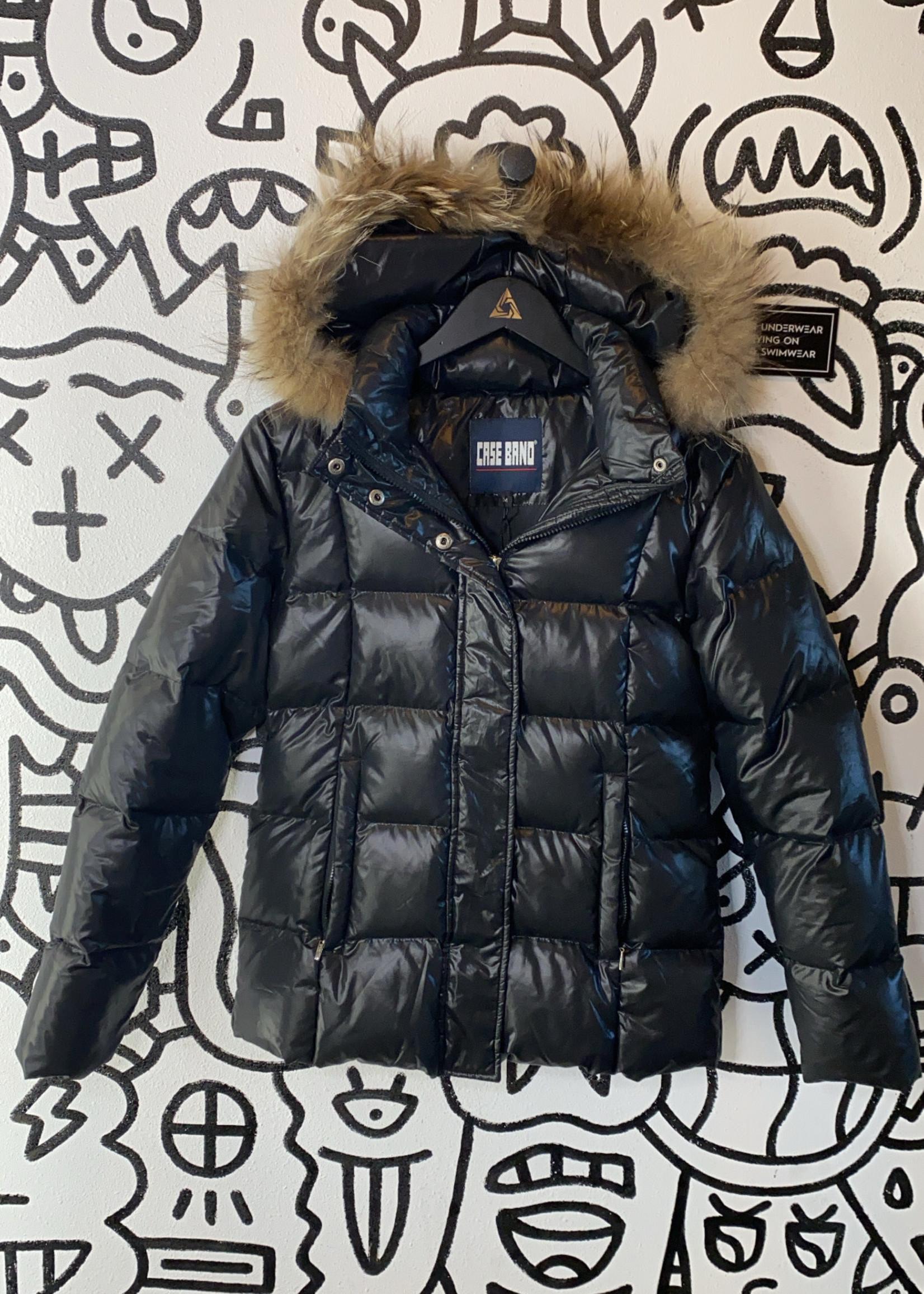 Case Band Vintage Black Puffer Jacket M