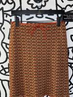 LA Movers Vintage Orange Stretch Skirt M