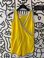 Panoo Vintage Yellow Terry Cloth Romper L