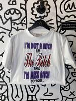 Vintage '94 Miss Bitch White Crop Tee M