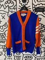Bemidji Vintage Blue Orange Cardigan S