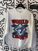 Vintage '92 Toronto Blue Jays White Crewneck L AS IS
