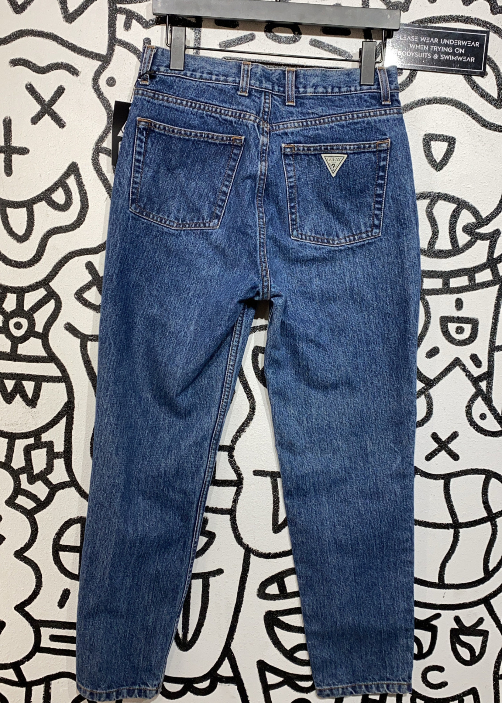 "Vintage Guess Dark Wash Mom Fit Jeans 30"""