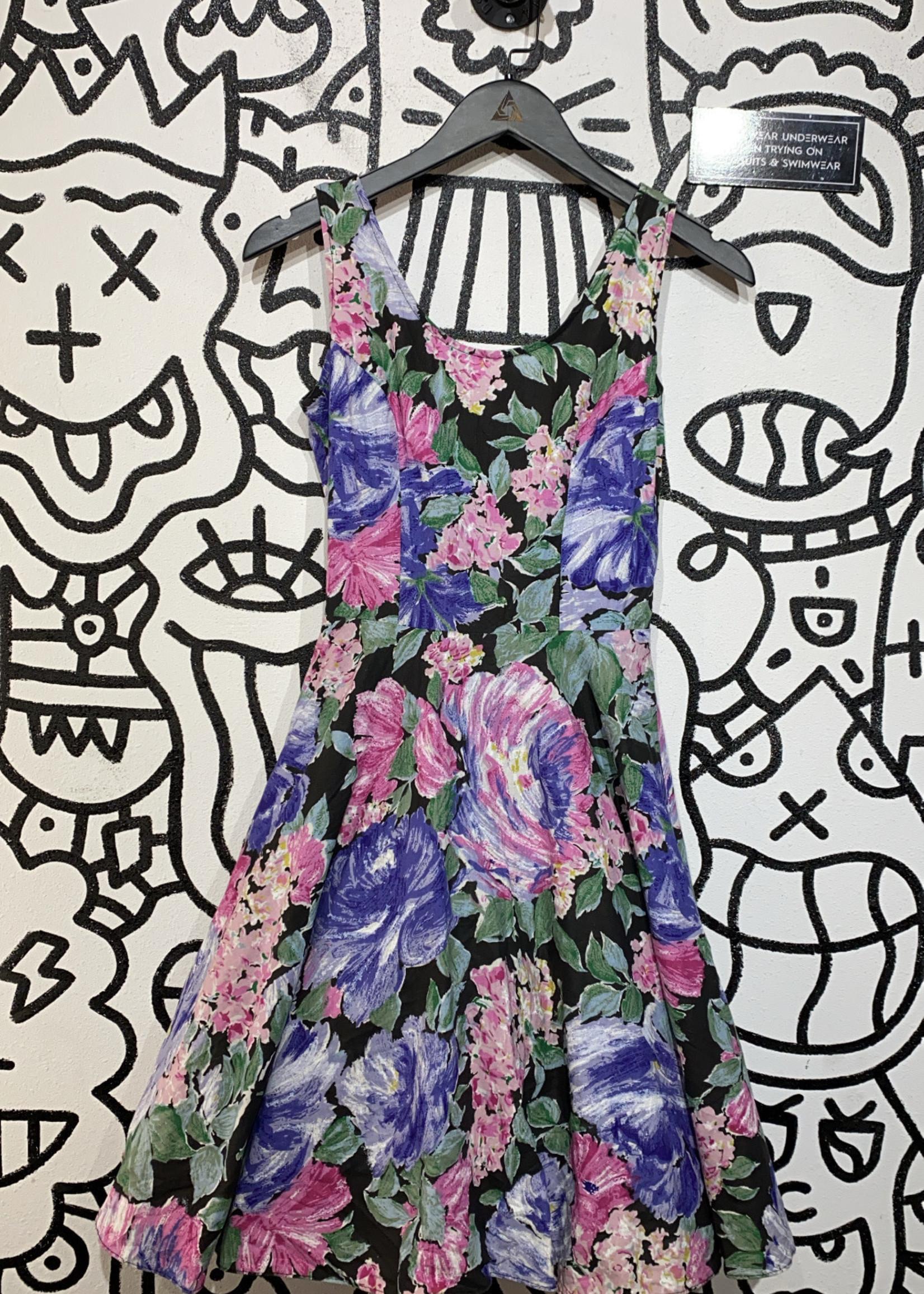 Vintage steppin out floral dress S