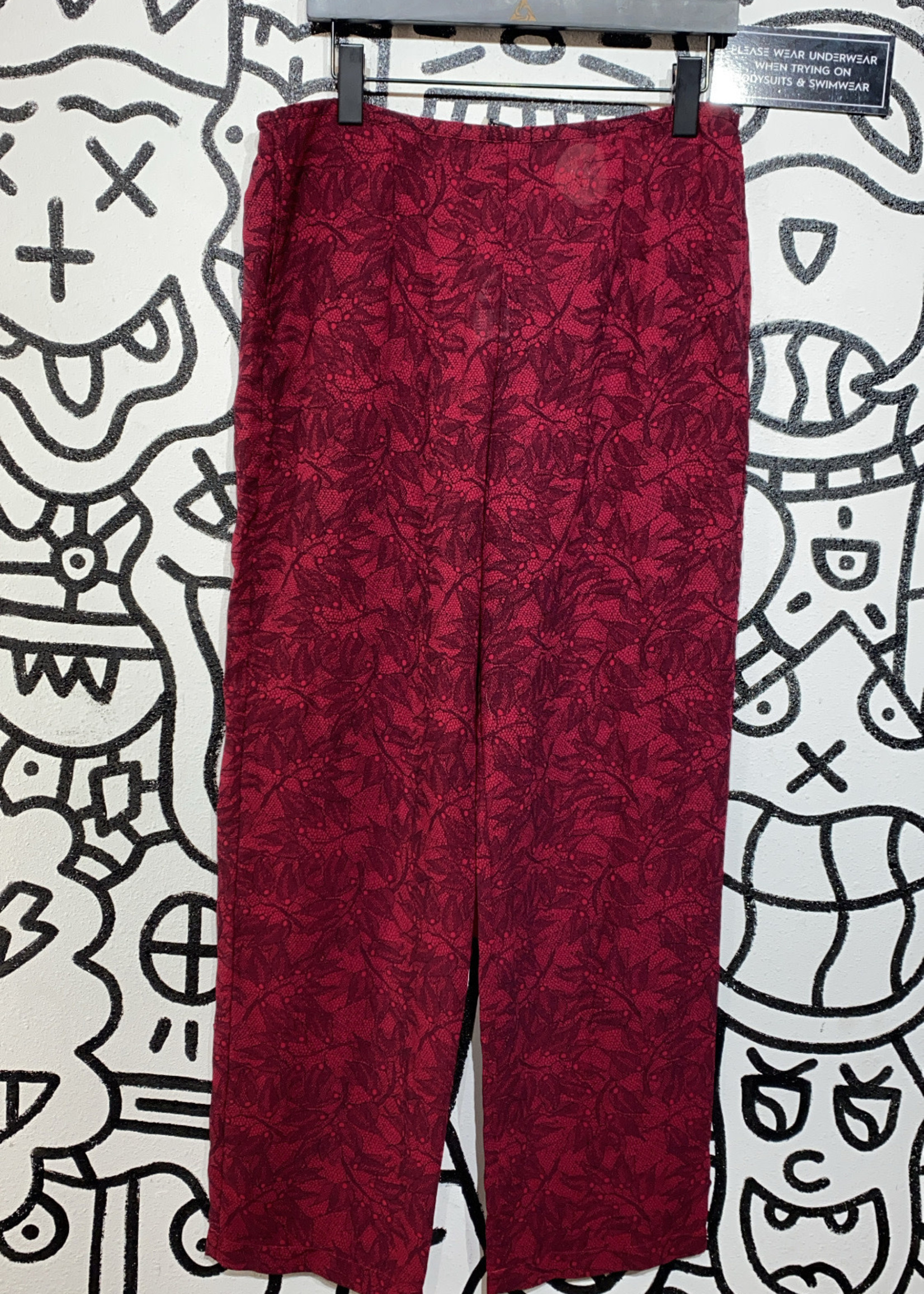 "Ann Klein Vintage Maroon Stretch Pants 34"""